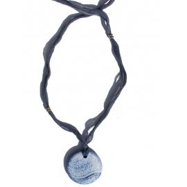 Hadí Achát modrý Ribbon náhrdelník